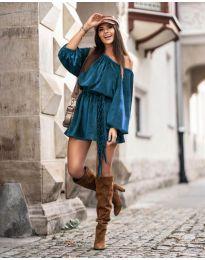 Obleka - koda 324 - turkizna
