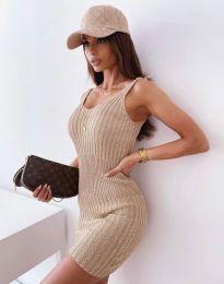 Obleka - koda 10088 - кapučino