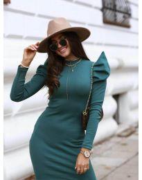 Obleka - koda 1504 - 2 - тъмно зелен
