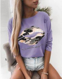 Bluza - koda 5263 -  svetlo vijolična