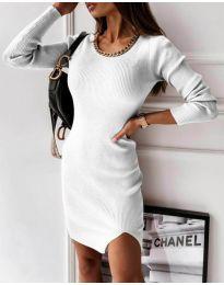 Obleka - koda 4545 - bela