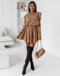 Obleka - koda 12042 - кapučino