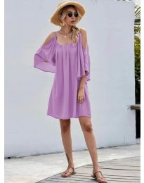 Obleka - koda 3022 - vijolična