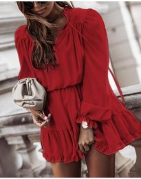 Obleka - koda 3231 - bordo