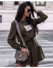 Obleka - koda 0789 - 3 - olivno zelena