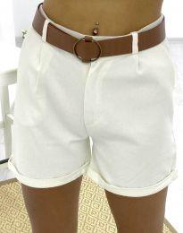 Kratke hlače - koda 2236 - 1 - bela