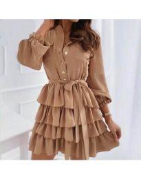 Obleka - koda 7356 - rjava