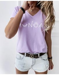 Majica - koda 822 - 1 - svetlo vijolična