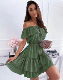 Obleka - koda 6777 - olivno zelena
