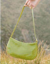 Дамска чанта в зелено изчистен модел с цип - код B21