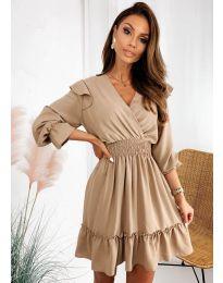 Obleka - koda 8554 - bež