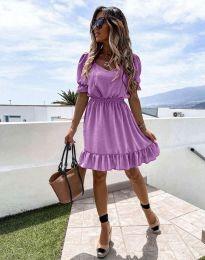 Obleka - koda 6460 - vijolična