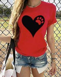 Majica - koda 3204 - 1 - rdeča