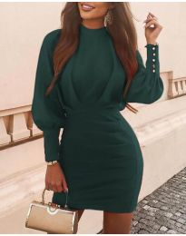 Obleka - koda 4016 - temno zelena