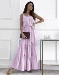 Obleka - koda 2578 - vijolična