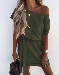Obleka - koda 6737 - olivno zelena