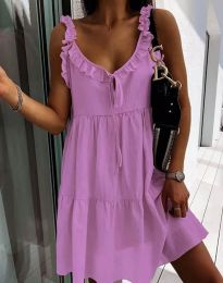 Obleka - koda 2540 - vijolična