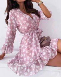 Obleka - koda 2865 - cvetni