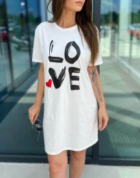 Obleka - koda 11887 - bela