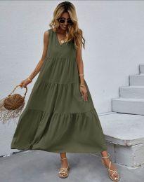 Obleka - koda 2743 - olivno zelena