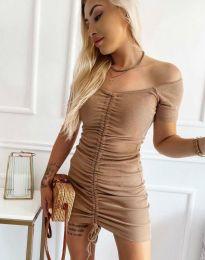 Obleka - koda 6590 - кapučino