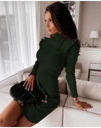 Obleka - koda 8484 - тъмно зелен