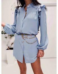 Obleka - koda 3433 svetlo modra