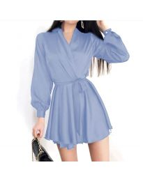 Obleka - koda 8754 - svetlo modra