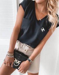 Атрактивна дамска блуза в черно - код 6306