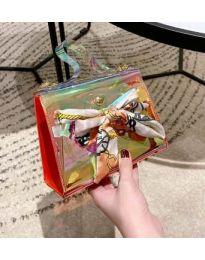 Дамска чанта с атрактивен дизайн от силикон с панделка - код B62 - 5