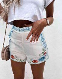 Kratke hlače - koda 0955 - 1 - bela