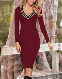 Obleka - koda 35333 - 2 - bordo