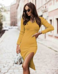 Obleka - koda 6593 - gorčica