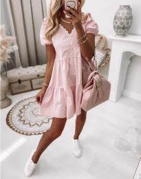 Obleka - koda 8292 - svetlo roza
