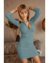 Obleka - koda 3107 - turkizna