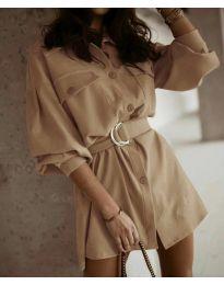 Obleka - koda 6461 - кapučino