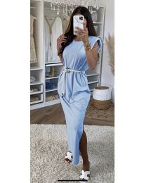 Obleka - koda 7049 - svetlo modra