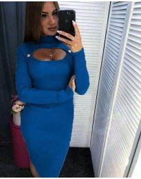 Obleka - koda 2144 - 1 - modra