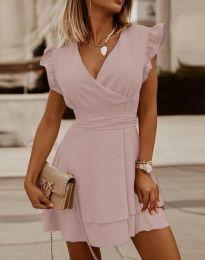 Obleka - koda 5654 - svetlo roza
