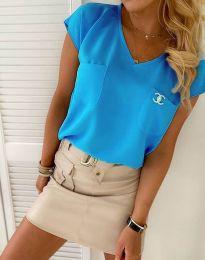 Bluza - koda 6306  - 4 - svetlo modra