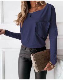 Bluza - koda 4450 - 4 - temno modra