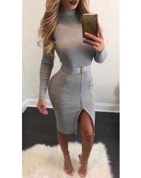 Obleka - koda 2053 - 1 - siva