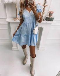 Obleka - koda 8292 - svetlo modra