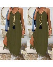 Obleka - koda 2575 - 3 - olivno zelena