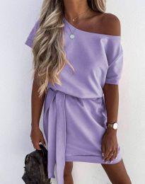 Obleka - koda 6737 - svetlo vijolična