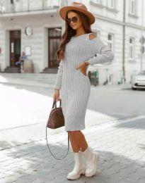 Obleka - koda 8203 - siva