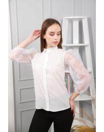 Дамска риза в бяло - код 0633