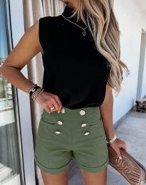 Kratke hlače - koda 6815 - olivna