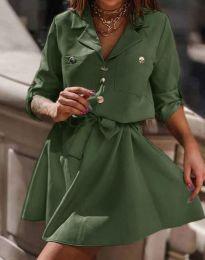 Obleka - koda 4950 - olivno zelena