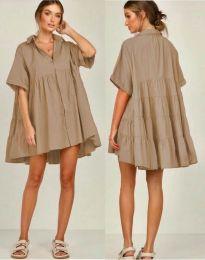 Obleka - koda 6464 - кapučino